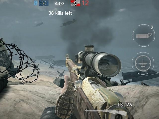 Rekomendasi game perang terpopuler IOS android - World War Heroes WW2 FPS