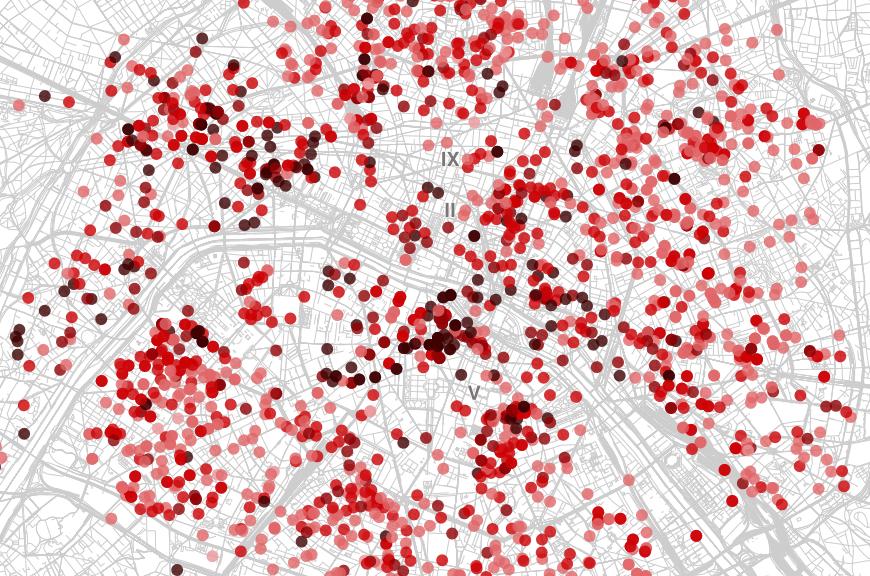 Airbnb  la carte des prix de location  Paris et ce quon y apprend  Dans mon labo