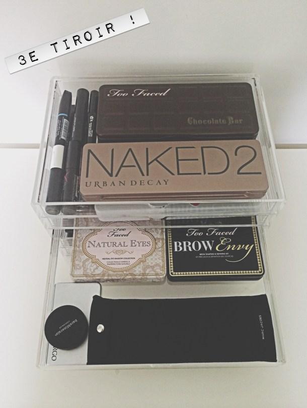 comment ranger ses palettes de maquillage