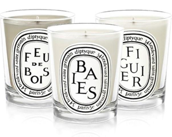 Les bougies Feu de Bois, Baies et Figuier Diptyque