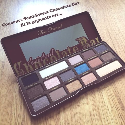 concours Too Faced Semi Sweet Chocolate Bar Palette