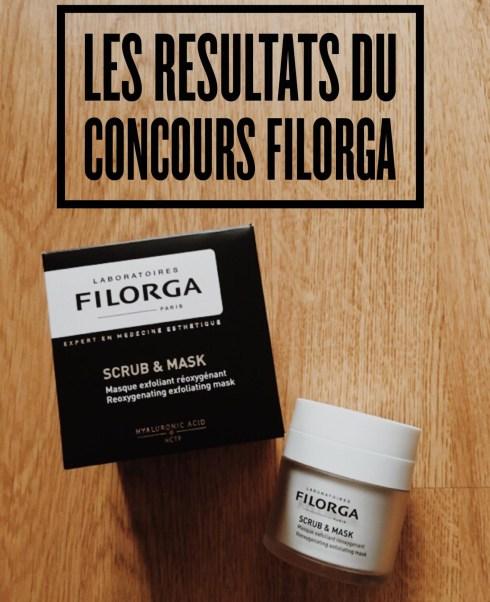 Résultats concours Scrub and Mask Filorga blog