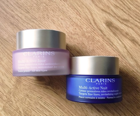 Clarins Multi active jour Multi active nuit avis routine soin working girl