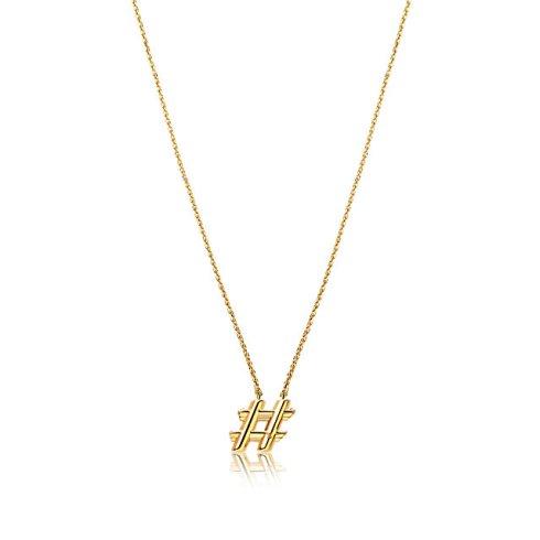 """Louis Vuitton - Collier avec finition dorée """"hashtag"""" (325€)"""