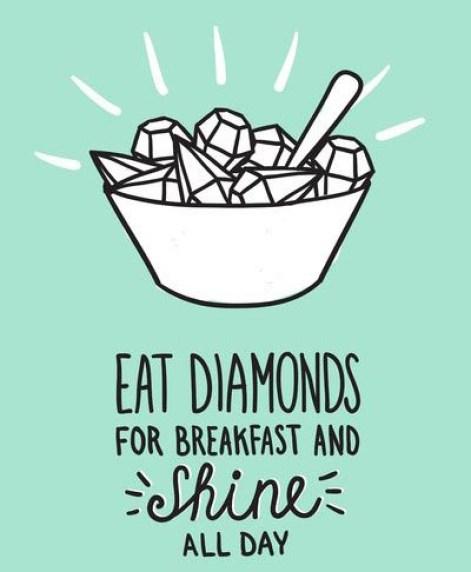 eat diamonds for breakfast and shine all day smoothie bowl recette blog graines chia lait végétal avoine