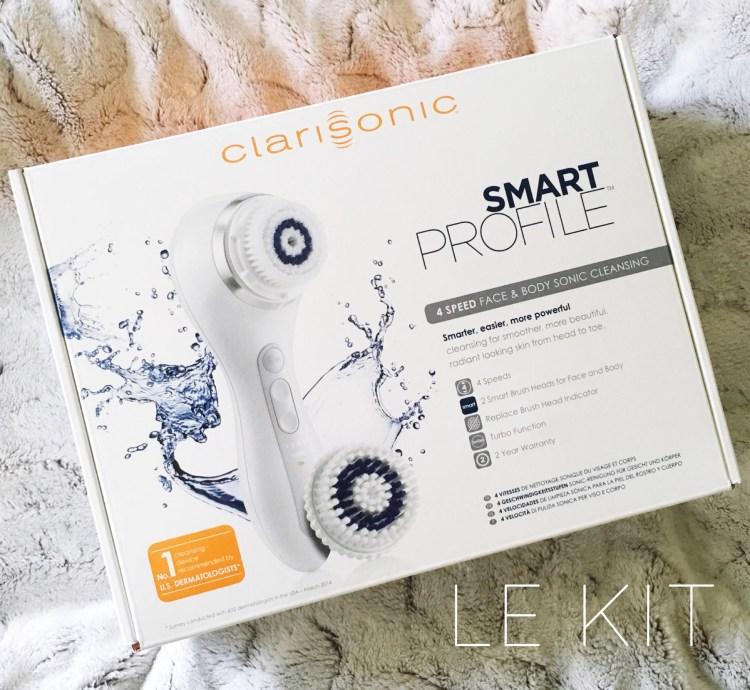 Clarisonic Smart Profile brosse nettoyante visage corps pieds avis blog