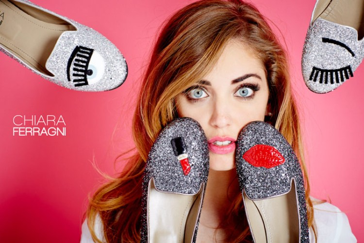 Chiara Ferragni The Blond Salad blue eye chaussures mode blog