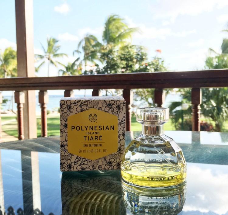 Eau de Toilette Polynesian Island Tiaré The Body Shop avis blog vacances