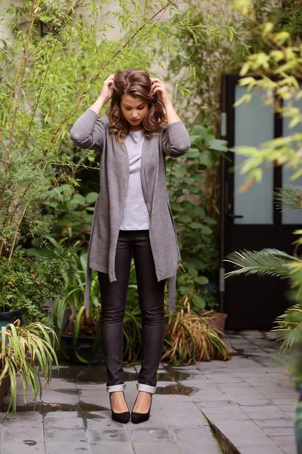 Jean gilet t-shirt Enjoy Phoenix Marie Lopez collection mode capsule vêtements la redoute