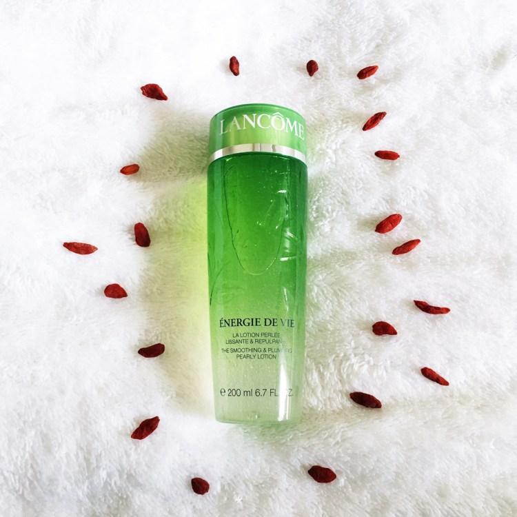 Lotion perlée Energie de vie soin visage hydratant lancôme avis blog