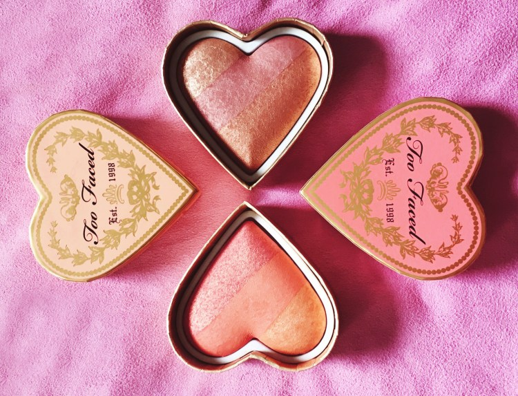 Too Faced Sweetheart Perfect Flush Blush Peach Beach Sparkling Bellini avis blog swatch