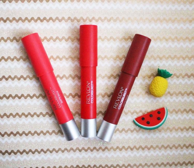crayon rouge à lèvres revlon colorburst baume mat