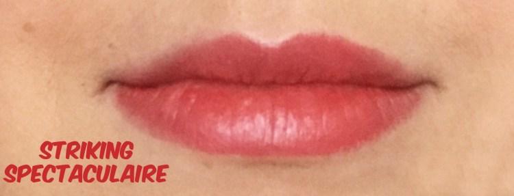 Striking Spectaculaire crayon rouge à lèvres revlon colorburst baume mat avis blog