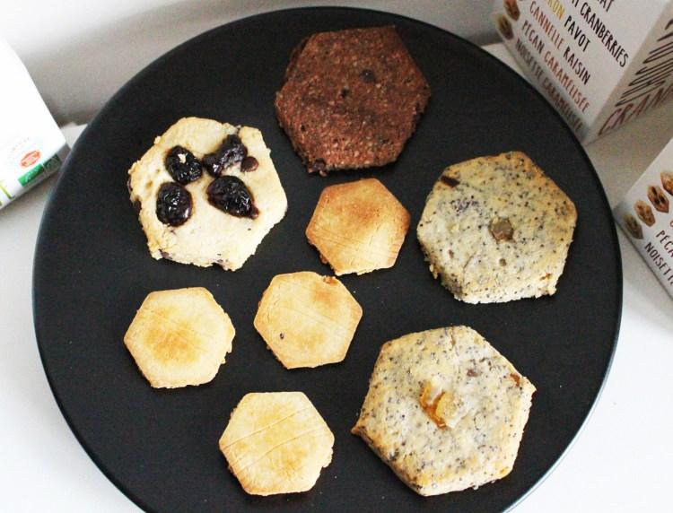 Cinq Sans Découverte des biscuits salés et sucrée sains
