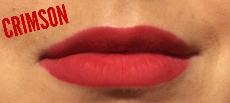 Urban Decay Vice Liquid Lipsticks avis blog swatch Crimson