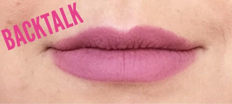 Urban Decay Vice Liquid Lipsticks avis blog swatch Backtalk
