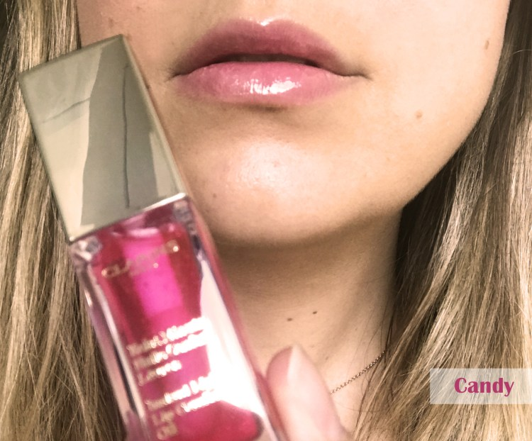 Clarins Eclat Minute Huile Confort Lèvres avis blog swatch candy