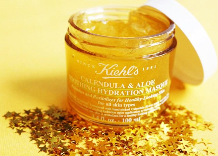 avis masque visage Calendula et Aloe Soothing Hydratation de Kielhs blog beauté