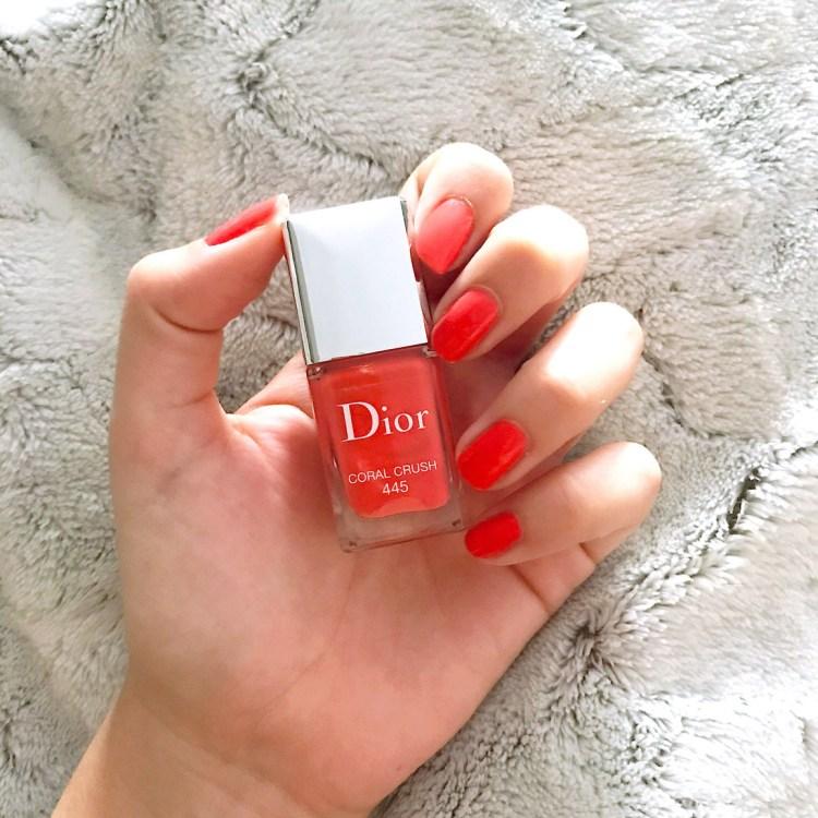Coral Crush mon vernis coup de cœur été Dior avis blog