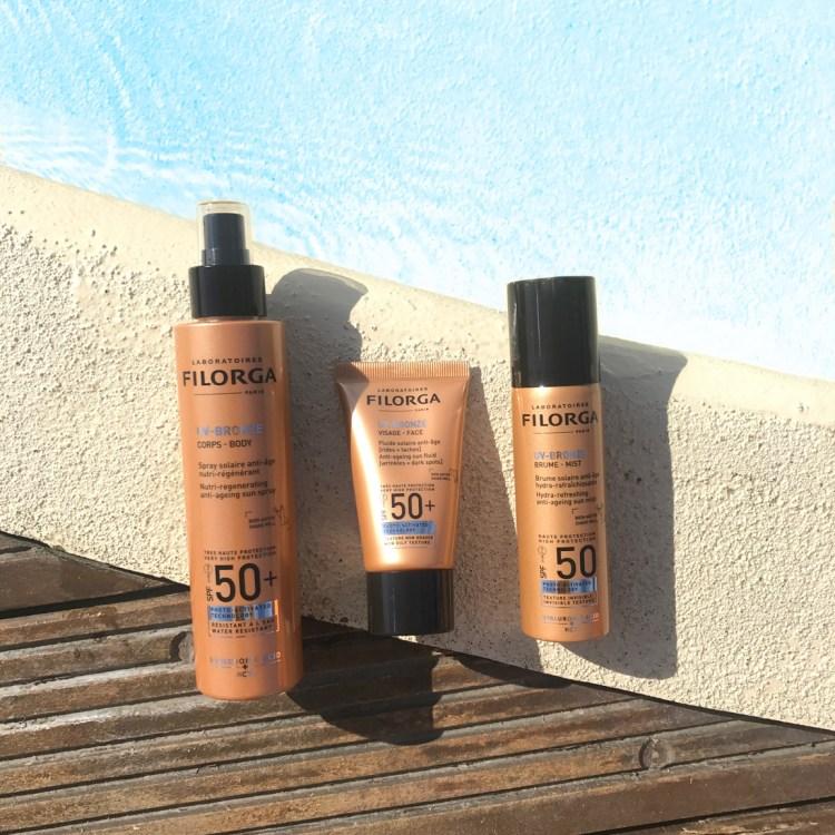 Mon avis sur UV Bronze les solaires pour le corps et le visage de Filorga blog