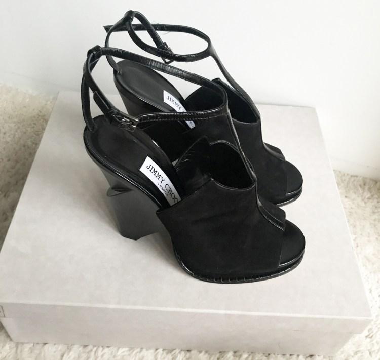 Vente Privée Arlettie Jimmy Choo chaussures Kascade daim noir bon plan