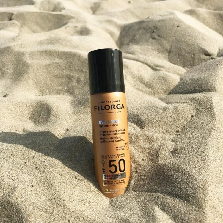 Mon avis sur UV Bronze solaires anti age nutri régénérant fluide solaire rides taches corps visage de Filorga