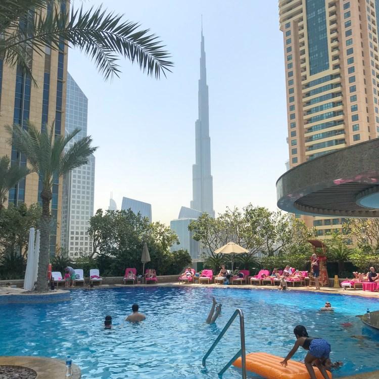 Mon séjour à l'hôtel Shangri-La de Dubaï piscine rooftop avis blog