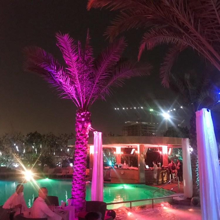Mon séjour à l'hôtel Shangri-La de Dubaï piscine rooftop nuit avis blog