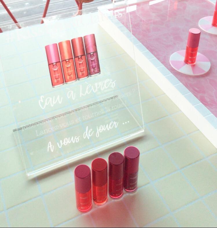 Swatch et avis sur les Eaux à Lèvres Clarins blog dans mon sac de fille