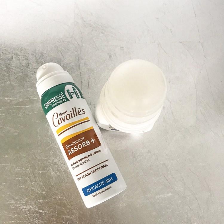 Mon avis sur le déodorant Absorb+ Rogé Cavaillès spray roll on bille blog beauté