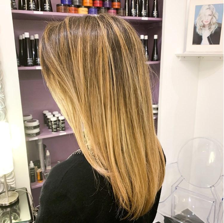 Mon balayage à l'argi-blond adaptée aux femmes enceintes chez Celine Dupuy avis blog résultat