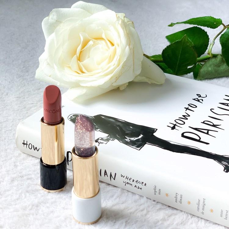 Café Bônheur mon avis sur la collection maquillage 100% parisienne de Lancôme blog swatch rouge a levres l'Absolu Rouge top coat