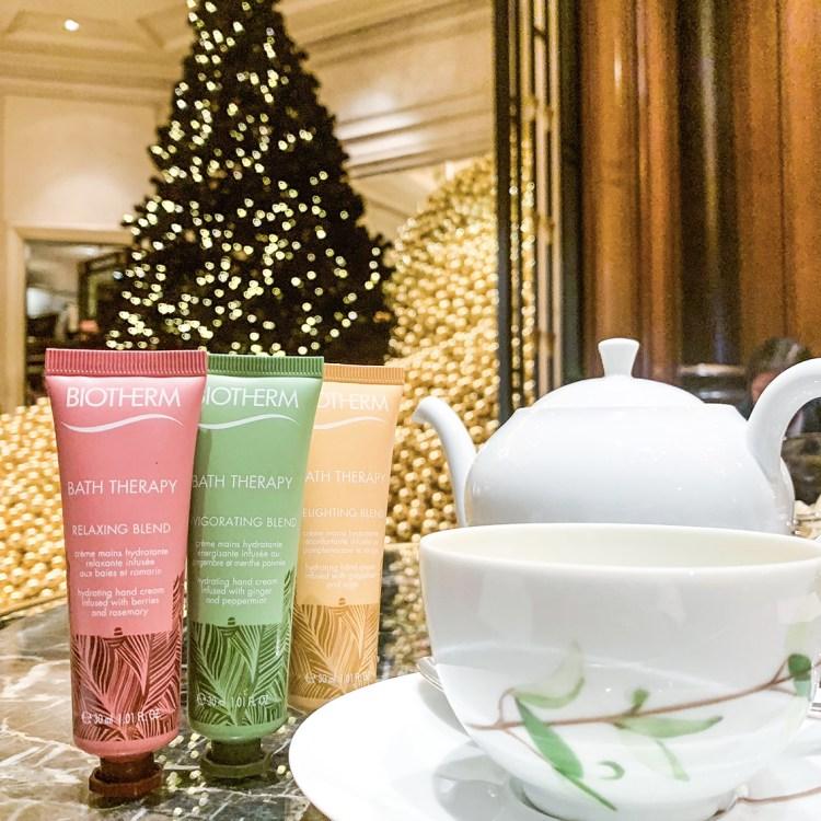 Mon Calendrier de l'Avent sur Instagram blog dans mon sac de fille tea time biotherm
