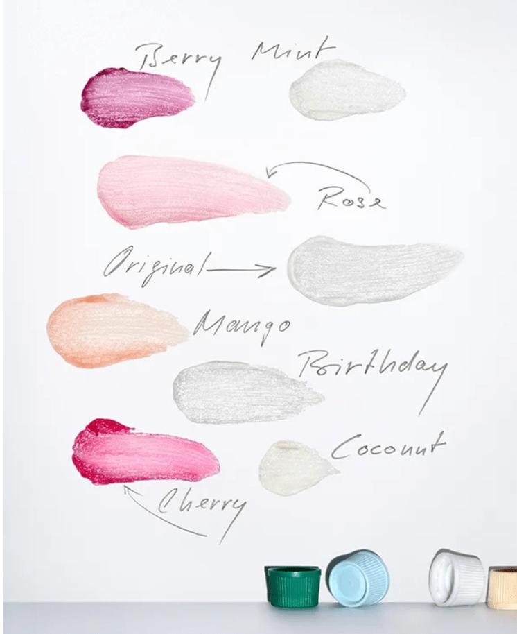 Mon avis sur le baume à lèvres Balm Dotcom Glossier mango birthday cake blog test dans mon sac de fille