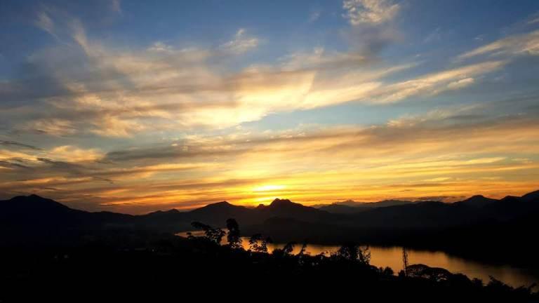 Coucher du soleil au Mont Phousi Luang Prabang