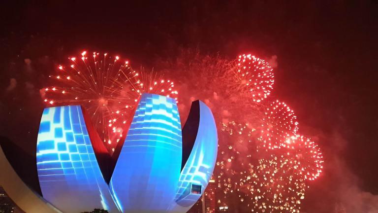 Feu d'artifice Nouvel An Chinois Singapour