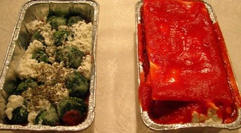 lasagne feta epinard - avant cuisson