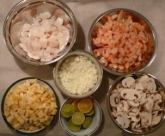 ingredients pates fruits de mer