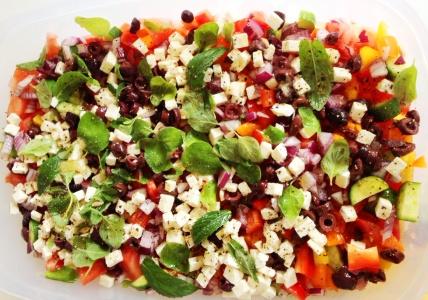 salade grecque preparation