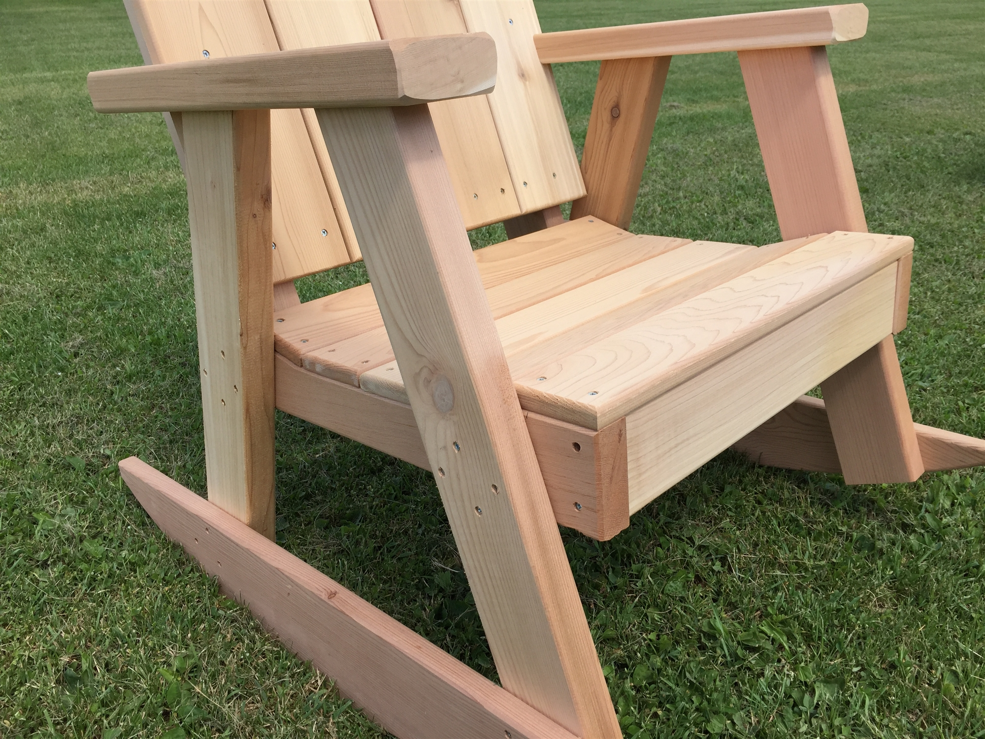 Comfortable Rocking Chair Comfortable Ozark Rocking Chair In Western Red Cedar
