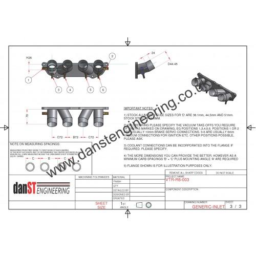 Peugeot 106 XSI & Saxo VTR TU5 8v Inlet Manifold for R6 Carbs