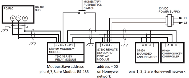 rs485 2 wire wiring diagram
