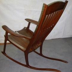 Rocking Chair Cradle Mesh Office Support Dan Alleger Custom Woodworking New Orleans La