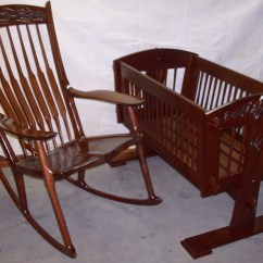 Rocking Chair Cradle Old Dental Headrest Dan Alleger Custom Woodworking New Orleans La