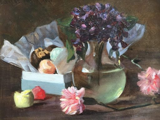 A still life by flowers done by artist Alfred Smith