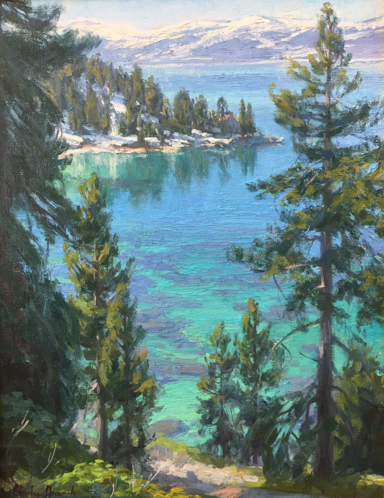 Contemporary art for sale of Emerald Bay, Lake Tahoe done by artist Charles Muench