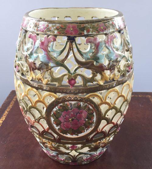 Hungarian vase made pre 1920 Fischer Budapest
