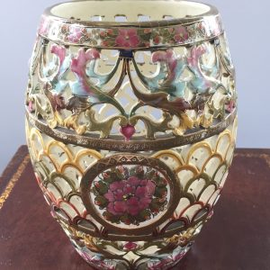 Hungarian vase made pre 1920 Fischer Budapest