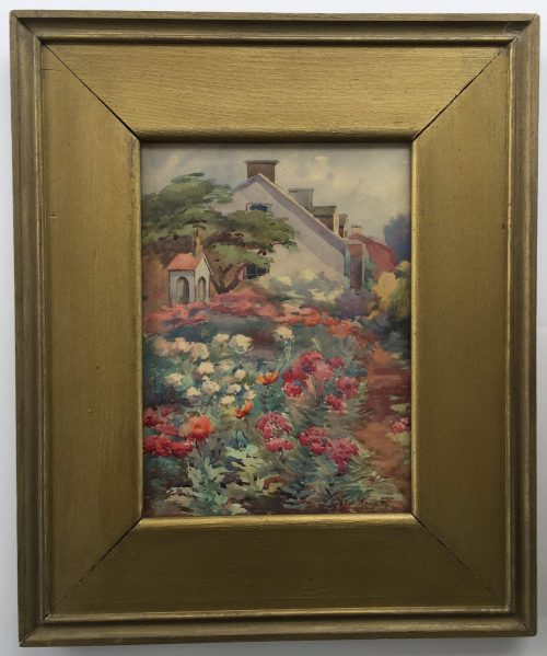 a painting of Monhegan garden by artist Maud Knowlton for sale