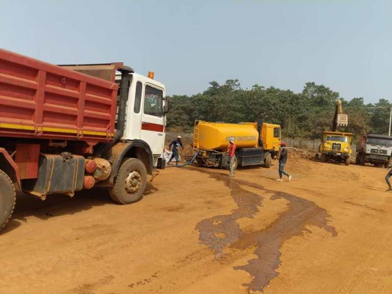 Deployment of construction trucks